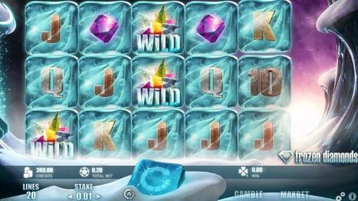 Онлайн игровые автоматы на реальные деньги - Frozen Diamonds