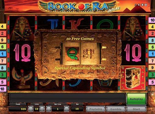Игровой автомат Book of Ra Deluxe на деньги